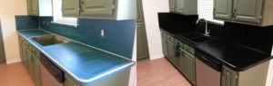 Kitchen Formica Before and After Refinishing