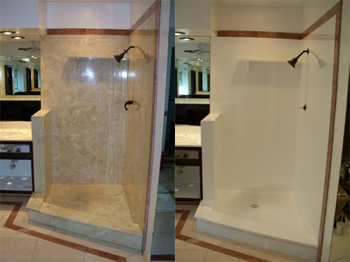 Showers - We refinish tile, acrylic, fiberglass, and cultured marble ...