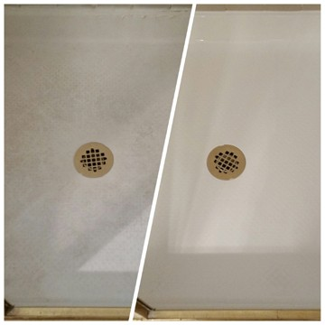 please note we do not refinish tiled shower floors the reason is because itu0027s the nature of a shower pan to hold moisture and that moisture can work its