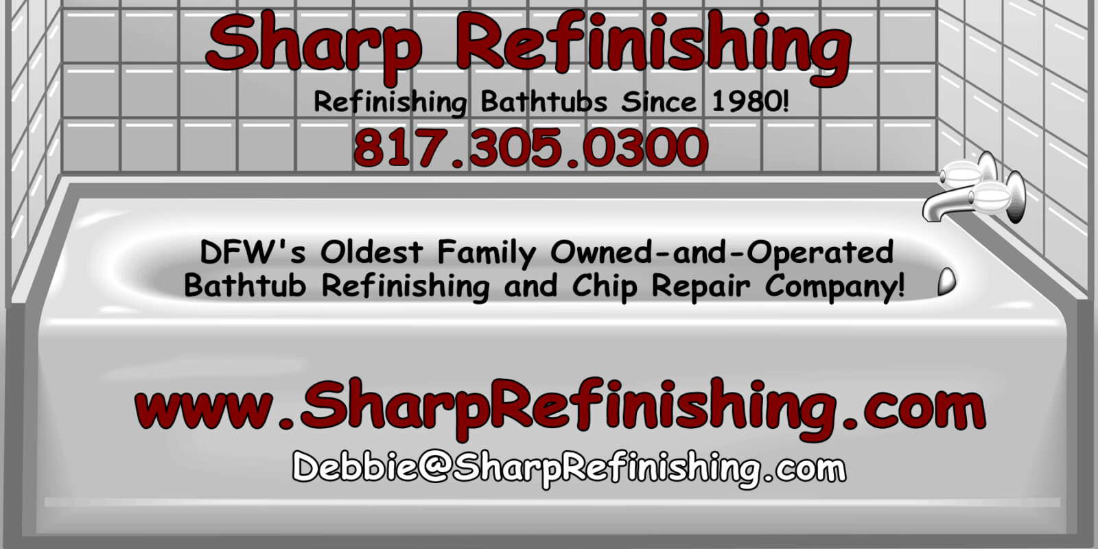 bathtub refinishing and chip repair - family owned and operated!