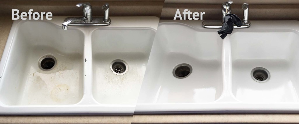We Refinish Sinks Made Of Porcelain Cultured Marble And