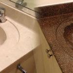 Cultured Marble Bathroom Countertop/Bowl