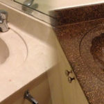 Cultured Marble Bathroom Sink and Countertop