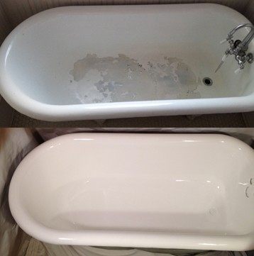Porcelain Clawfoot Bathtub